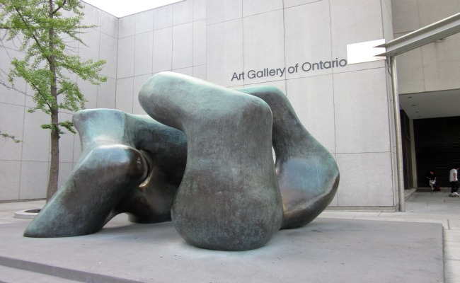Art Gallery of Ontario - Bronze work outside the Gallery