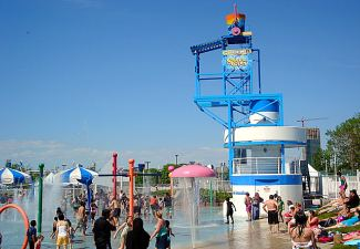 Ontario Place - Tipping Bucket and Waterplay Area