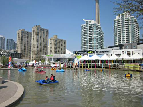 Harbourfront Centre - Boating at the Natrel Pond