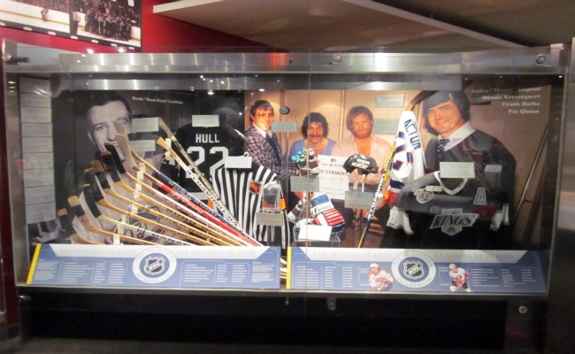 Toronto Hockey Hall Of Fame - Various Artifacts on Display