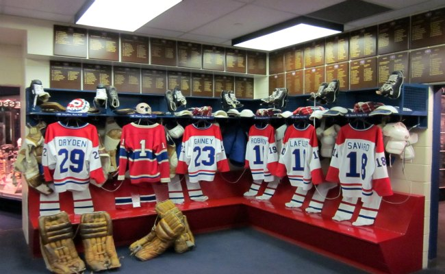 Toronto Hockey Hall Of Fame - Montreal Canadiens Dressing Room