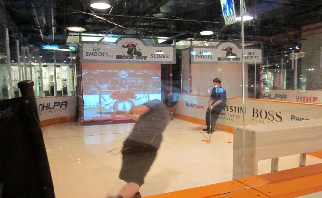 Toronto Hockey Hall Of Fame - NHLPA Be A Player Zone Shoot Out Game