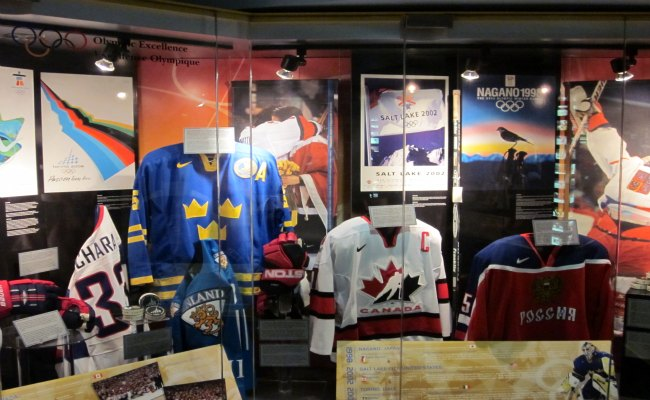 Toronto Hockey Hall Of Fame - Olympic Games Exhibit